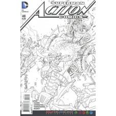 Action Comics, Vol. 2 # 48B Adult Coloring Book Variant Cover