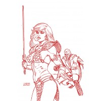 RED SONJA THE SUPERPOWERS #2 LINSNER CRIMSON RED ART VIRGIN (02/10/2021)