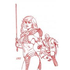 RED SONJA THE SUPERPOWERS #2 LINSNER CRIMSON RED ART VIRGIN (02/10/2021)