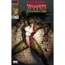 DF MARVEL ZOMBIES RESURRECTION #1 BROWN EXC (C: 0-1-2) (02/24/2021)